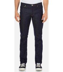 a.p.c. men's petit standard mid rise jeans - selvedge indigo - w34/l32 - blue