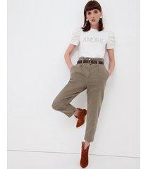 motivi pantaloni carrot con cintura donna verde