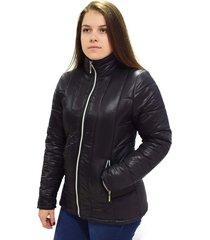 casaco jaqueta sobretudo butu biru impermeável puffer preto - tricae