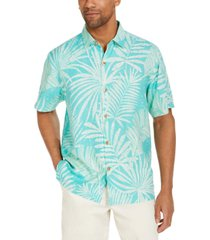 tommy bahama men's through the fronds classic-fit tropical print silk camp shirt