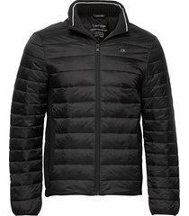 light weight side logo jacket fodrad jacka svart calvin klein
