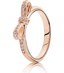 anel rosê laço
