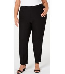 alfred dunner plus size street smart pull-on mid-rise pants
