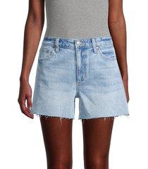 joe's jeans women's high-rise distressed denim shorts - norwalk - size 23 (00)