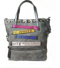 bolso gris combustible
