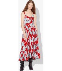 proenza schouler splatter floral tiered dress red/baby blue splatter floral 4