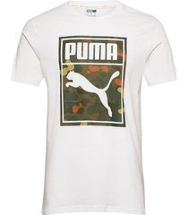 classics graphics logo tee t-shirts short-sleeved vit puma