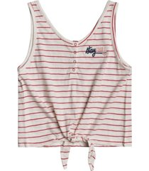 roxy toddler & big girls sweet symphony tie-front t-shirt