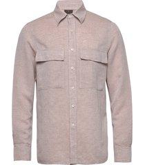 haidar reg shirt wash skjorta casual beige oscar jacobson