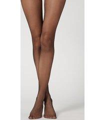 calzedonia 8 denier resistant sheer tights woman black size xl