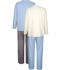 pyjamas roger kent ljusblå::benvit