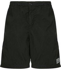 c.p. company toggle swimming trunks - black