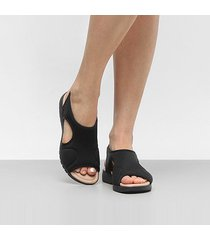 sandália anabela comfortflex papete feminina