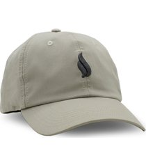 boné simple skateboard dad hat logo khaki