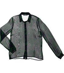 geisha 93948-20 530 blouse chiffon aop green/navy combi