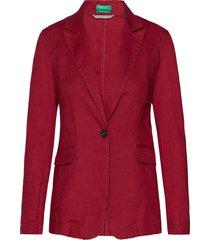 jacket blazer kavaj röd united colors of benetton