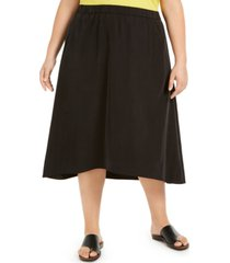 eileen fisher plus size a-line skirt