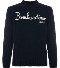 mc2 saint barth blended cashmere sweater bombardino ski club embroidery