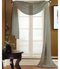 "miller curtains preston 48"" x 216"" sheer scarf valance"
