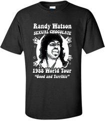 randy watson  sexual chocolate world tour t-shirt men