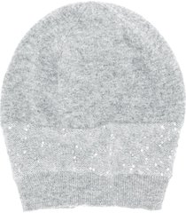 fabiana filippi sequinned beanie hat - grey