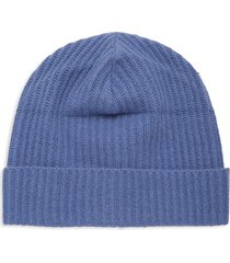 portolano men's ribbed cashmere beanie - winter blue