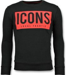 sweater local fanatic icons block leuke z