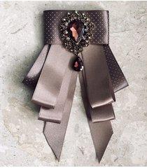 brosza/ krawat z kamieniem glamour