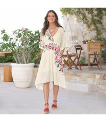 sundance catalog women's artful vines dresss petite in ivory petite small
