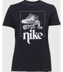 camiseta nike sportswear w nsw tee street 2 preta - kanui