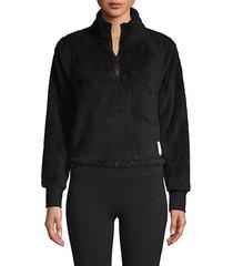 raglan-sleeve fleece pullover