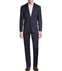 lauren ralph lauren men's pinstripe wool-blend suit - navy - size 48 s