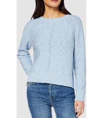 sweater con tiras en color contrastante celeste esprit