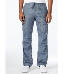 sean john men's pleat pocket flight cargo pants, created for macy's