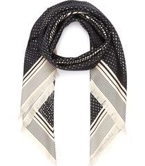 graphic print silk scarf