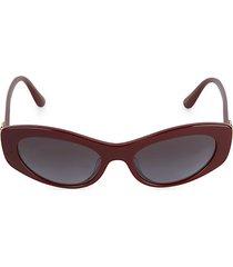 53mm rectangular cat eye sunglasses