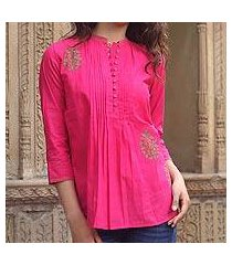 cotton blouse, 'bengali rose' (india)