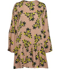 tilly dress sand flower korte jurk geel twist & tango