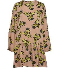 tilly dress sand flower korte jurk geel twist & tango