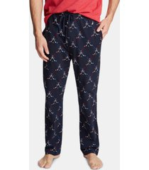 nautica men's cotton hockey-print pajama pants