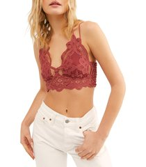 women's free people intimately fp adella longline bralette, size small - pink