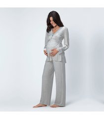 pijama joge longo bege