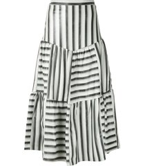 andrea bogosian panelled midi skirt - multicolour