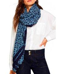 pañuelo mezcla de algodón azul esprit