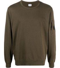 c.p. company sleeve-pocket logo patch sweatshirt - green