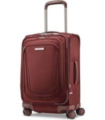 samsonite silhouette 16 softside expandable carry-on spinner suitcase