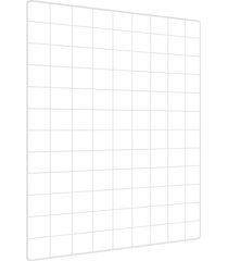 memory board quadro de fotos branco - 65cm x 45cm + 6 mini prendedores