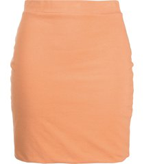 john elliott slim-fit sueded mini skirt - orange