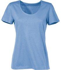 shirt van bio-katoen, jeansblauw 40