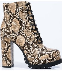 akira can't stop me chunky lace up bootie